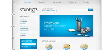 Шаблон студенческого сайта