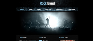 Шаблон сайта рок-группы