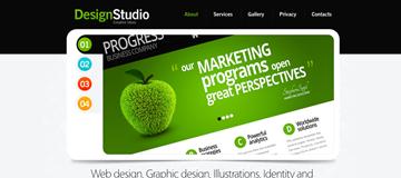 Шаблон сайта студии дизайна