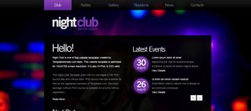 Шаблон сайта ночного клуба