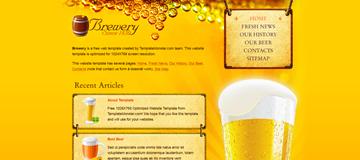 Шаблон сайта пива