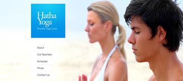 Шаблон сайта Хатха-йога