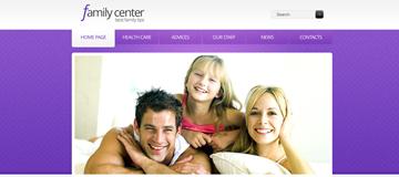 Шаблон сайта семейного центра