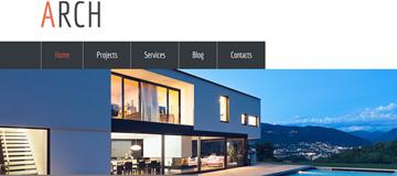 Шаблон сайта архитектуры