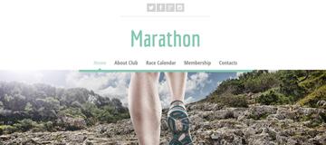 Шаблон сайта марафона
