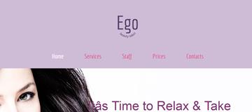 Шаблон сайта салона красоты Эго