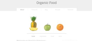 Шаблон сайта натуральной еды