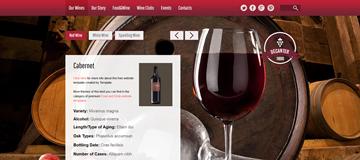 Шаблон сайта вина