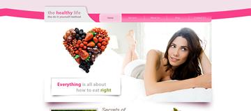 Шаблон сайта здорового питания