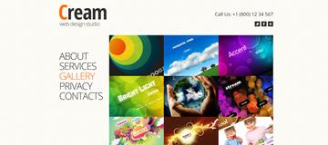 Шаблон сайта студии web-дизайна Крем
